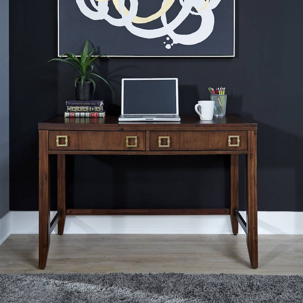 Image of Bungalow Student Desk Medium Brown - Home Styles