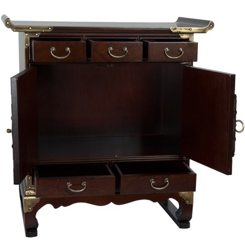 Korean Antique Style 5 Drawer End Table Cabinet Oriental Furniture Target