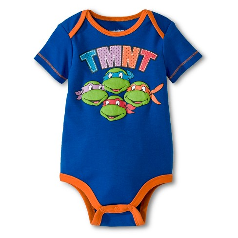 Teenage Mutant Ninja Turtles® Baby Boys' Bodysuit - Royal Blue 6-9 M - image 1 of 1