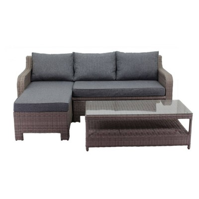 Canyon Bay 2pc Loveseat Daybed Combo - Gray - Courtyard Casual