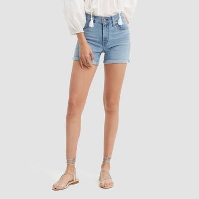 Levi's® Women's Mid-Rise Jean Shorts - Oahu Clouds