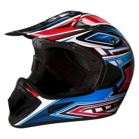 Off-Road Red and Blue Helmet - Assorted Sizes - image 1 of 6