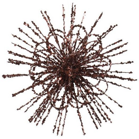 """Vickerman 8"""" Glittered Flower Blossom Sequined Christmas Ornament - Chocolate Brown - image 1 of 1"""