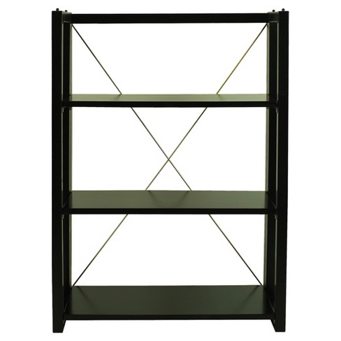 "38"" Shelf Folding/Stacking Bookcase - Black - Flora Home - image 1 of 7"