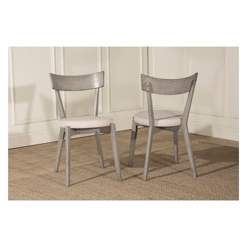 Mayson Dining Chair Set of 2 Gray - Hillsdale Furniture - image 1 of 4