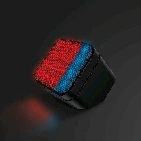 Sharper Image Led Lights Mini Speaker With Bluetooth Wireless
