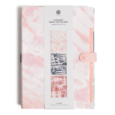 U Brands 3ct 5 Pocket Open Top Expandable Folder - Assorted Soft Dye