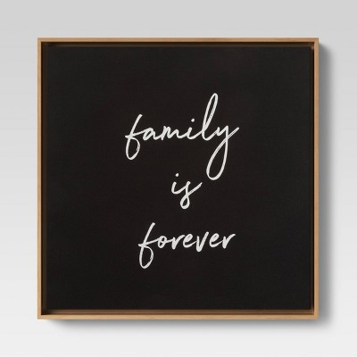 "20""x20"" Family is Forever Framed Linen Wall Canvas - Threshold™"