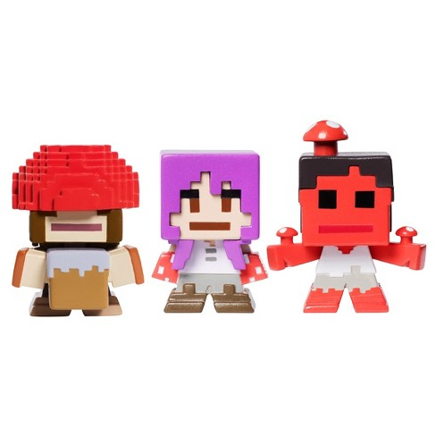 Minecraft Biome Settlers Series Mini Figure Mooshroom 3pk - image 1 of 3