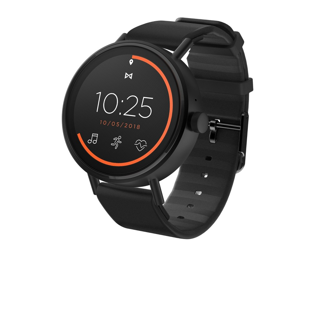 Misfit Vapor 2 Smartwatch 46mm in Jet Black Stainless Steel with Black Sport Strap