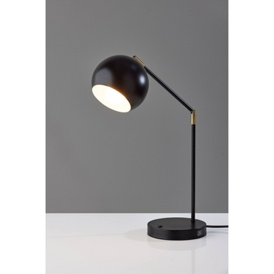 Ashbury Desk Lamp Black with Antique Brass Accents - Adesso