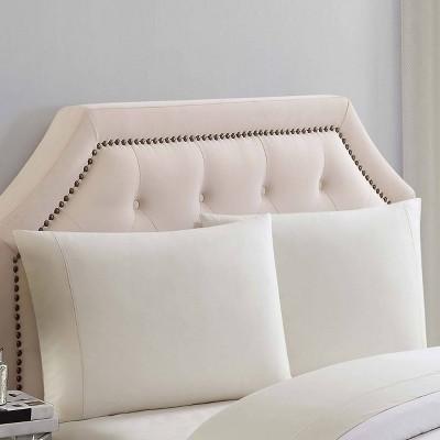 Standard 310 Thread Count Solid Cotton Pillowcase Set Almond Milk - Charisma