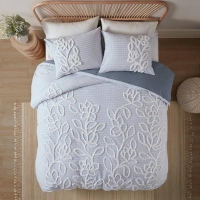 Leah 3 Piece Tufted Cotton Chenille Comforter Set - JLA Home