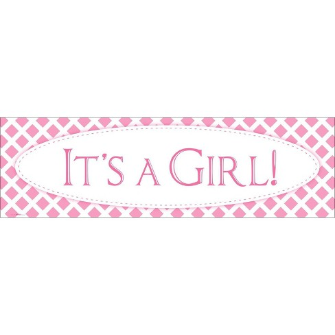 it s a girl birthday banner standard target