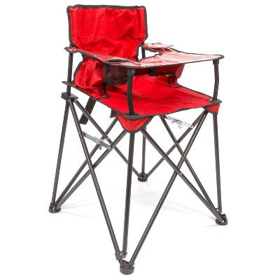 Creative Outdoor Distributor Baby High Folding Chair - Red