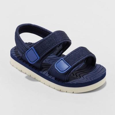 Toddler Boys' Blair Footbed Slip-On Sandals - Cat & Jack™ Navy