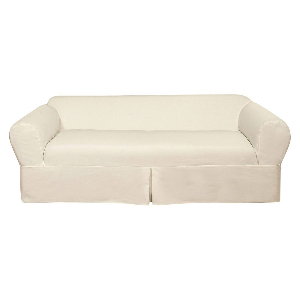 Image of White Wrap Sofa Slipcover