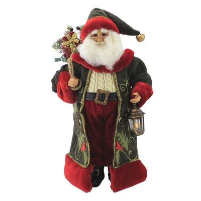 "Christmas 21.0"" Woodland Santa Lighted Cardinal  -  Decorative Figurines"