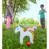 HearthSong - Unicorn Wooden Croquet Set for Kids Outdoor Active Play - image 3 of 3