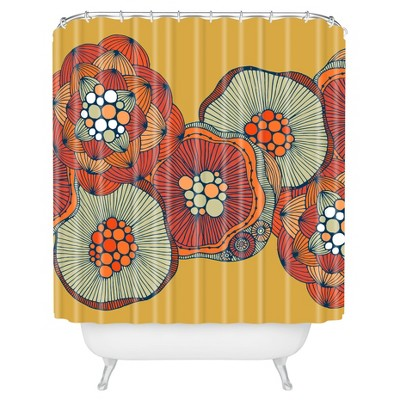 Valentina Ramos Blomma Shower Curtain Yellow - Deny Designs