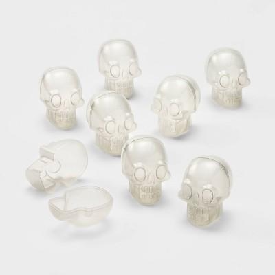 8ct Glow-in-the-Dark Scavenger Hunt Halloween Fillable Skulls - Hyde & EEK! Boutique™