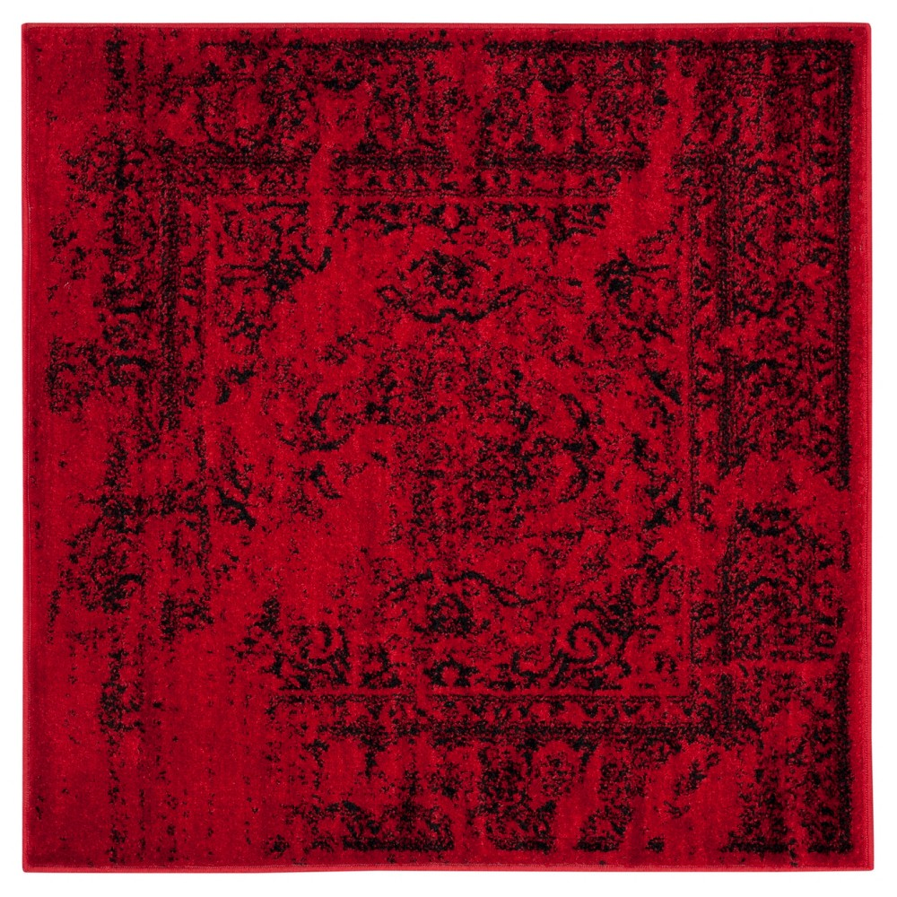 Addaneye Accent Rug - Red/Black (4'x4') - Safavieh