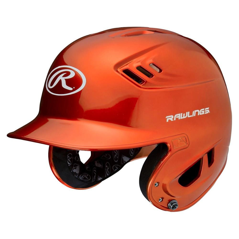 Rawlings R16 Series Metallic Helmet Jr - Orange (6 3/8 - 7 1/8), Pumpkin