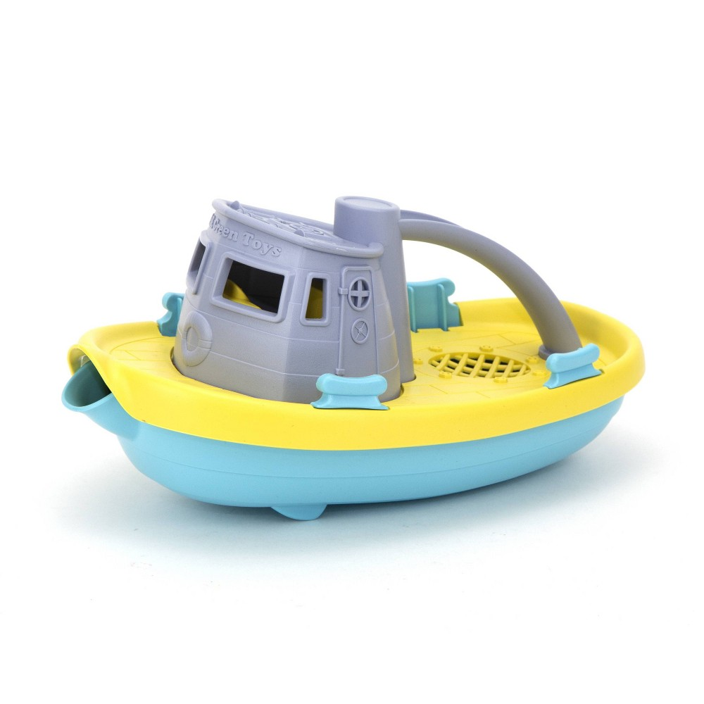Image of Green Toys Target Exclusive Tug Boat Gray Top