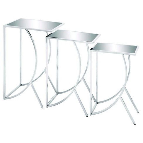 Metal Glass Suave Appeal And Solid Construction End Table White - Woodland Imports - image 1 of 1