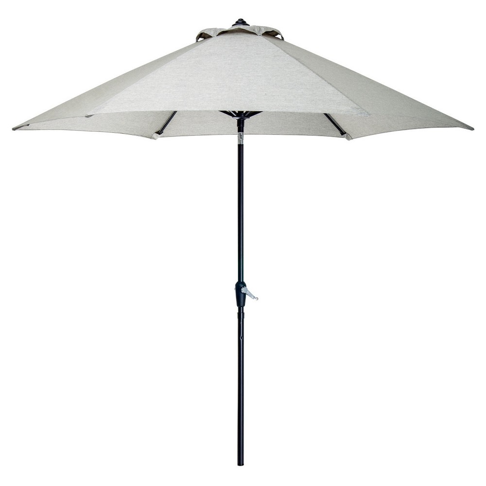 Image of 9' Table Umbrella - Silver - Hanover, Gray