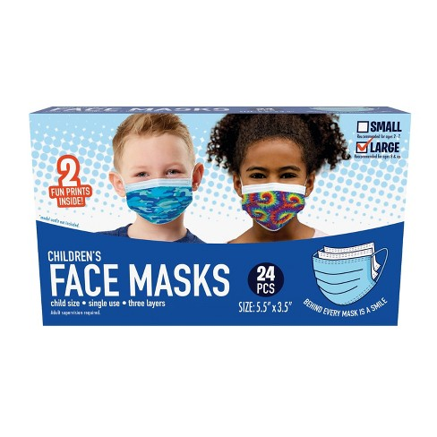 Just Play Kid's Face Mask - L - 24pc - image 1 of 4