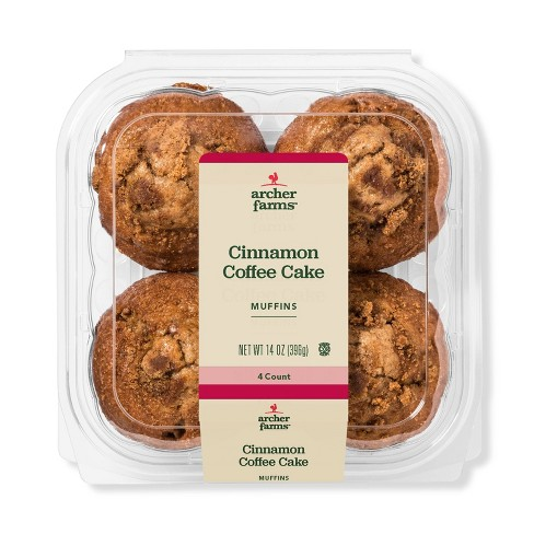Cinnamon Coffee Cake Muffins - 4ct/14oz - Archer Farms™ - image 1 of 1