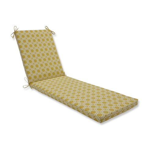 Indoor/Outdoor Rossmere Sunshine Yellow Chaise Lounge Cushion - Pillow Perfect - image 1 of 1