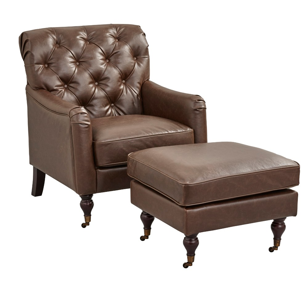 Martin Chair and Ottoman Set Brown - Buylateral
