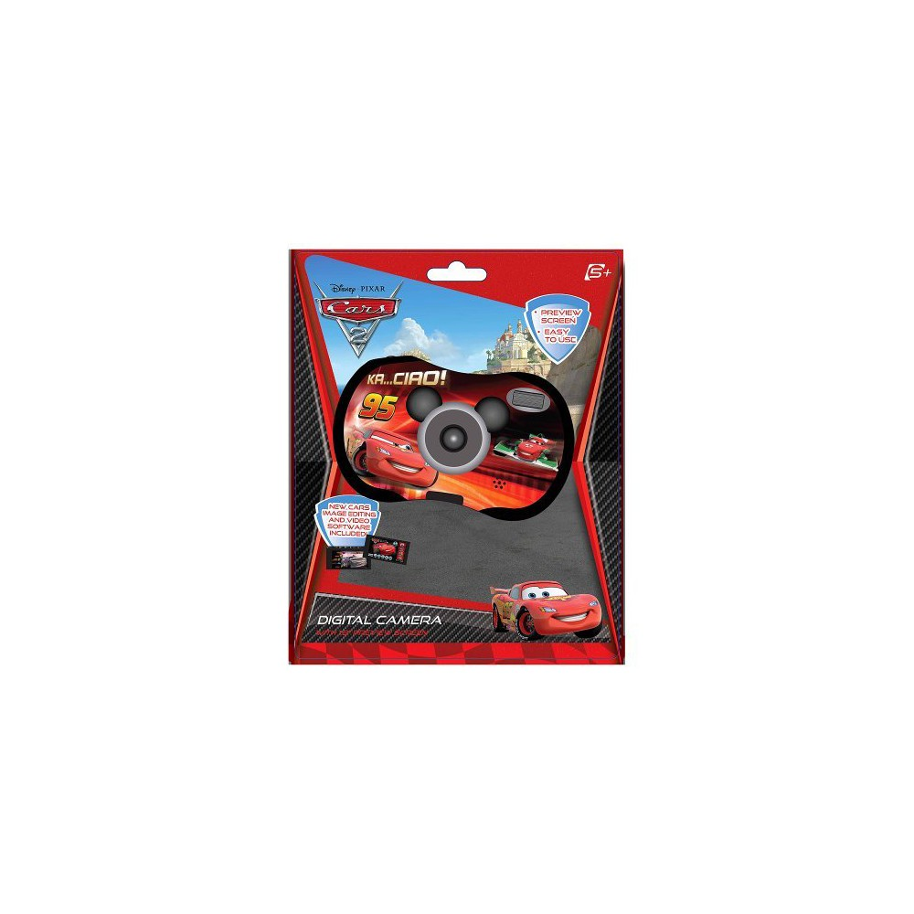 Cars 2MP Digital Camera, Digital Cameras Teach your child the fun of digital photography with this Cars camera. This 2.1MP digital camera features a 1.5-inch Lcd screen for easy image previewing. Since it comes with Usb capability, Jpeg photos can be easily transferred from the camera to a computer.