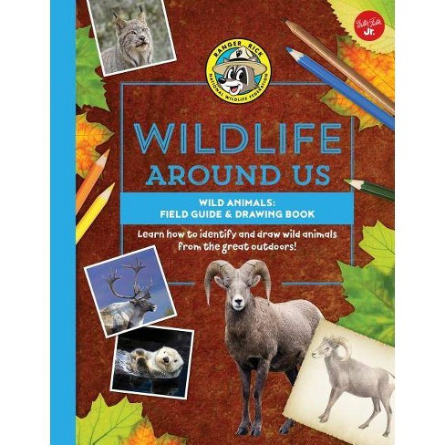 Wild Animals--Field Guide & Drawing Book - (Ranger Rick's Wildlife Around Us) (Hardcover) - image 1 of 1