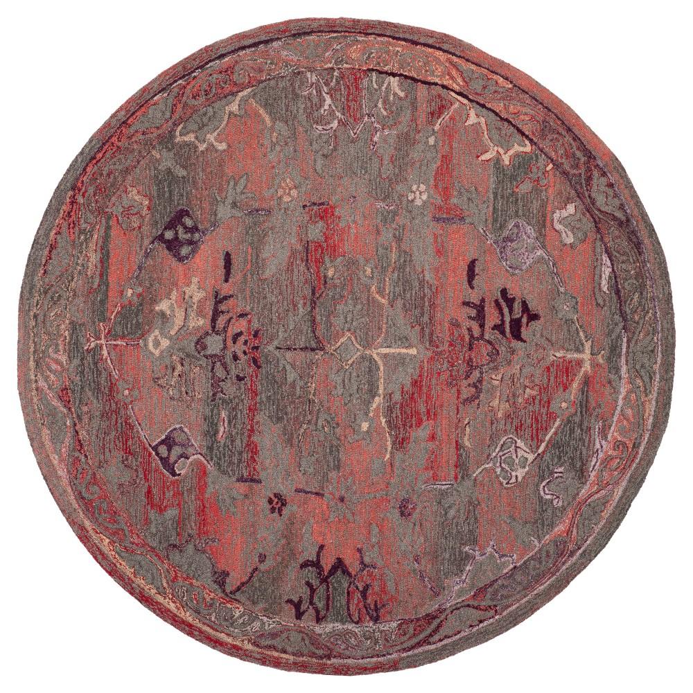 Red Solid Tufted Round Area Rug - (6' Round) - Safavieh