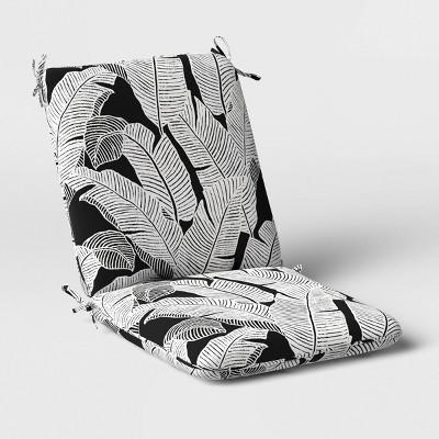 Mod Palm Outdoor Chair Cushion DuraSeason Fabric™ Black/White - Project 62™