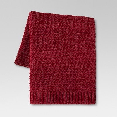 Chenille Throw Blanket (50 x60 )- Red - Threshold™