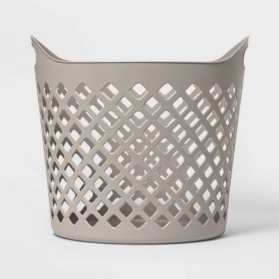 Flexible Laundry Basket Diamond Round Gray - Room Essentials™