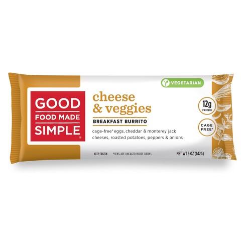 Good Food Made Simple Breakfast Frozen Burrito Cheese, Veggie & Egg - 5oz - image 1 of 3