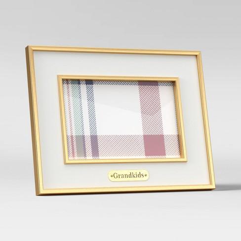 """4"""" x 6"""" 'Grandkids' Holiday Single Image Frame White - Threshold™ - image 1 of 4"""