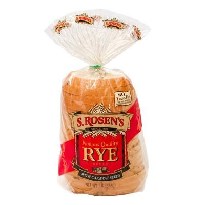 S. Rosen's Rye Sandwich Bread - 16oz
