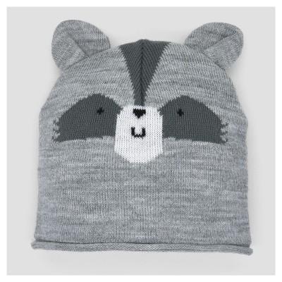 Baby Boys' Knit Raccoon Hat - Cloud Island™ - Gray 0-6M