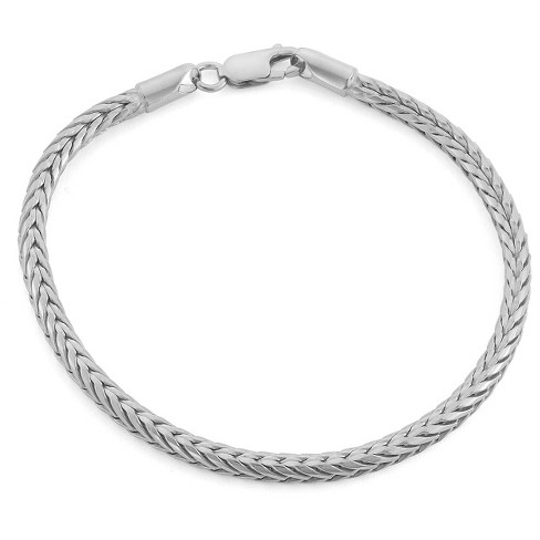 d742abf2ae60 Tiara Sterling Silver Foxtail Chain Bracelet   Target