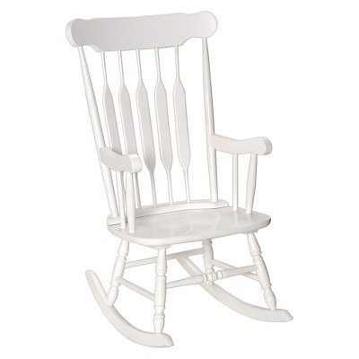 Adult Wooden Rocking Chair -White