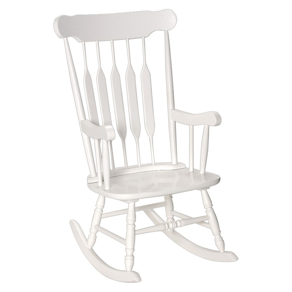 Image of Adult Wooden Rocking Chair -White, Adult Unisex