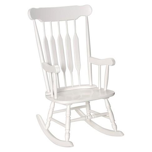 Awesome Adult Wooden Rocking Chair White Inzonedesignstudio Interior Chair Design Inzonedesignstudiocom