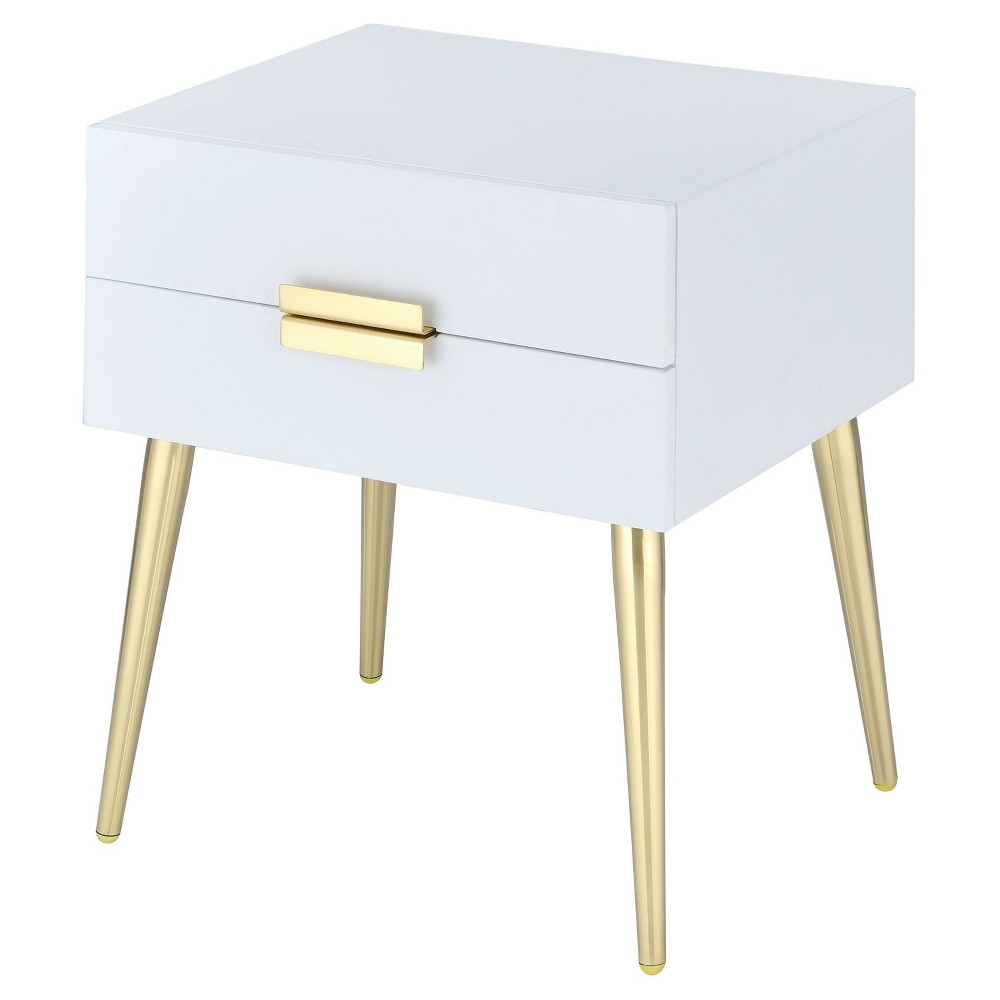 End Table White Gold, Accent Tables