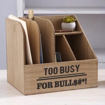 Lakeside Humorous Office Organizers - Too Busy Desktop File Storage